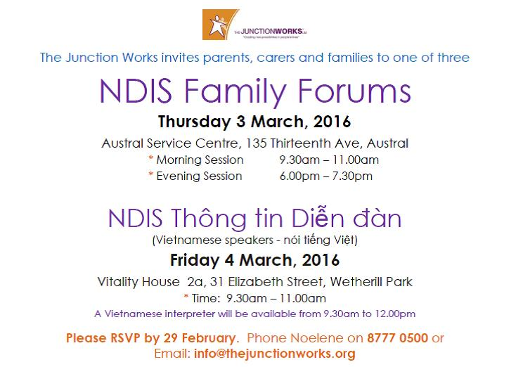 NDIS Family Forums